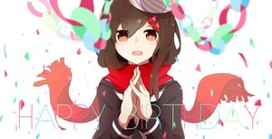 Rating: Safe Score: 85 Tags: brown_hair kagerou_project kent red_eyes scarf school_uniform tateyama_ayano User: Flandre93