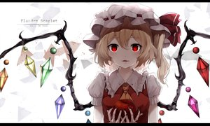 Rating: Safe Score: 33 Tags: apple cat_smile fang flandre_scarlet food fruit snozaki touhou vampire watermark User: FormX