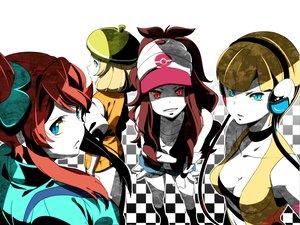 Rating: Safe Score: 220 Tags: 84k bel_(pokemon) breasts cleavage fuuro hat headphones kamitsure pokemon red_eyes touko_(pokemon) User: HawthorneKitty
