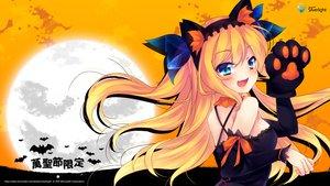Rating: Safe Score: 100 Tags: aizawa_hikaru animal_ears aqua_eyes blonde_hair catgirl halloween microsoft moon os-tan ribbons User: feiyuelisky