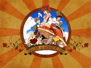 Rating: Safe Score: 20 Tags: alice_in_wonderland card_captor_sakura kero kinomoto_sakura kinomoto_touya User: Maboroshi