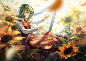 Rating: Safe Score: 95 Tags: flowers instrument kazami_yuuka petals shuang_ye sunflower touhou User: FormX
