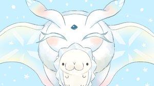 Rating: Safe Score: 6 Tags: cyan frosmoth pokemon polychromatic siratamairipafe snom User: otaku_emmy