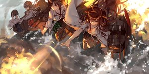 Rating: Safe Score: 42 Tags: anthropomorphism breasts brown_eyes brown_hair glasses group haruna_(kancolle) hiei_(kancolle) japanese_clothes jpeg_artifacts kantai_collection kirishima_(kancolle) kongou_(kancolle) long_hair short_hair skirt tagme_(artist) User: RyuZU