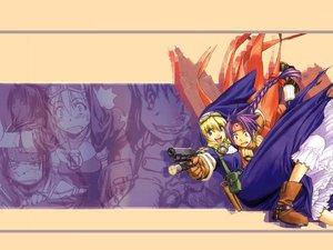 Rating: Safe Score: 6 Tags: chrno chrono_crusade gun nun pointed_ears rosette_christopher weapon User: Oyashiro-sama