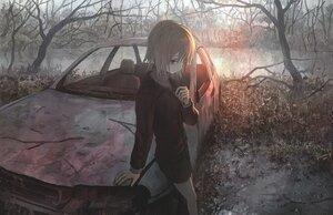 Rating: Safe Score: 28 Tags: car forest original polychromatic tokunaga_akimasa tree User: FormX
