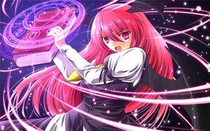 Rating: Safe Score: 57 Tags: book demon koakuma long_hair magic nekominase pink_eyes pink_hair touhou wings User: SciFi