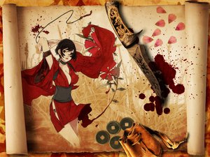 Rating: Safe Score: 45 Tags: blood breasts flowers japanese_clothes knife paper red_ninja_warrior yukata User: Zloan