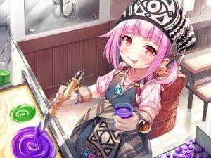 Rating: Safe Score: 29 Tags: ayakashi_kyoushuutan blush dress gloves hasumi_(hasubatake39) headdress loli lose monobeno necklace pink_hair red_eyes short_hair User: Fepple