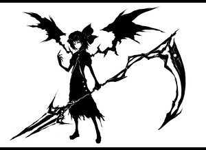 Rating: Safe Score: 73 Tags: acryl hat monochrome remilia_scarlet scythe short_hair spear touhou vampire weapon wings User: PAIIS