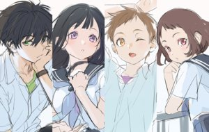 Rating: Safe Score: 23 Tags: black_hair brown_eyes brown_hair chitanda_eru fukube_satoshi green_eyes hyouka ibara_mayaka long_hair male mery_(apfl0515) oreki_houtarou pink_eyes purple_eyes school_uniform short_hair sketch wink wristwear User: RyuZU