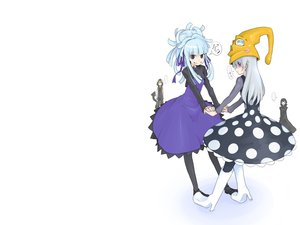 Rating: Safe Score: 68 Tags: blue_eyes boots cosplay crossover darker_than_black eruka_frog hat hei long_hair medusa oso pantyhose purple_eyes soul_eater white_hair yin User: PAIIS