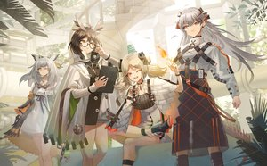 Rating: Safe Score: 32 Tags: animal_ears arknights glasses group horns ifrit_(arknights) long_hair o-sd! ptilopsis_(arknights) saria_(arknights) silence_(arknights) twintails User: Dreista