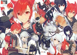 Rating: Safe Score: 24 Tags: akizone animal animal_ears black_hair braids catboy cheeze_(akizone) chocobo final_fantasy final_fantasy_xiv gray_hair male miqo'te ponytail red_eyes red_hair renz_(rirene_rn) tail User: BattlequeenYume