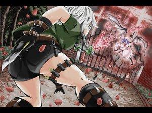 Rating: Safe Score: 73 Tags: 2girls flowers gloves hatsubasa_sakana izayoi_sakuya knife petals remilia_scarlet rose shorts touhou vampire weapon User: opai
