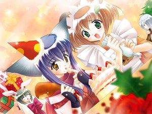 Rating: Safe Score: 1 Tags: animal_ears apron blush bow brown_hair cake chikage_(tail_tale) food fruit gloves gray_hair green_eyes hat iori_(tail_tale) japanese_clothes koma_(tail_tale) long_hair min purple_hair ribbons scarf short_hair strawberry tail_tale yellow_eyes User: Oyashiro-sama
