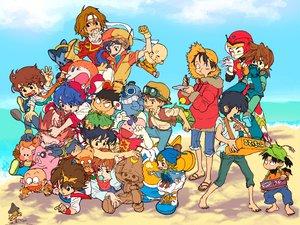 Rating: Safe Score: 27 Tags: beach blue_cube cooking_master_boy crossover dash_kappei dragonball food ginga_tetsudo_no_yoru giovanni_(ginga_tetsudo_no_yoru) goggles group hat ikusabe_wataru itadakiman kappei kirishima_kanna koenma kuririn laputa:_castle_in_the_sky liu_mao_hsing mashin_hero_wataru mojakou monkey_d_luffy nangoku_shonen_papuwa-kun nintama_rantaro one_piece papuwa pazu_(laputa) rockman rockman_(character) saint_seiya sakura_taisen settsuno_kirimaru twinbee_paradise yu_yu_hakusho User: haru3173