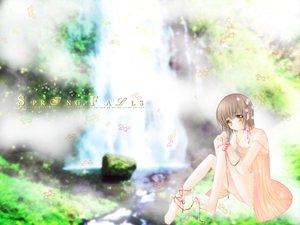 Rating: Safe Score: 10 Tags: carnelian ribbons water waterfall User: Oyashiro-sama