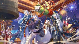 Rating: Safe Score: 29 Tags: achyue animal animal_ears bell black_hair blue_eyes braids cat dark_skin doll fireworks gray_eyes group japanese_clothes katana long_hair male mask ofuda onmyouji orange_eyes ponytail purple_eyes purple_hair red_eyes rope shrine sky stars sword tagme_(character) tail tattoo thighhighs weapon white_hair User: RyuZU