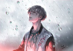 Rating: Safe Score: 56 Tags: all_male brown_eyes brown_hair foo_midori male original rain short_hair signed water wet User: otaku_emmy