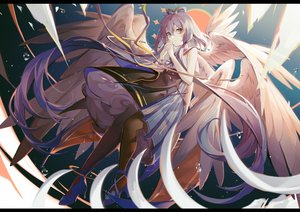 Rating: Safe Score: 53 Tags: dress green_eyes long_hair luo_tianyi purple_hair turkey_(weave7769) twintails vocaloid wings User: BattlequeenYume