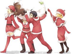Rating: Safe Score: 15 Tags: bel_(pokemon) cheren christmas group maruki_(punchiki) pokemon User: w7382001