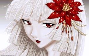 Rating: Safe Score: 203 Tags: cilou close flowers ichihara_yuuko long_hair red_eyes vector watermark white white_hair xxxholic User: gnarf1975