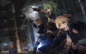 Rating: Safe Score: 56 Tags: aircraft anthropomorphism blonde_hair brown_eyes brown_hair building cape city drink garter girls_frontline gloves green_eyes green_hair grizzly_mkv_(girls_frontline) gun industrial jakoujika logo m950a_(girls_frontline) night rain short_hair shorts sunglasses thighhighs twintails water weapon welrod_mkii_(girls_frontline) yellow_eyes zettai_ryouiki User: Nepcoheart