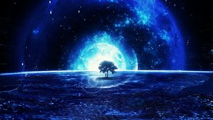 Rating: Safe Score: 91 Tags: blue landscape monochrome original planet scenic tagme_(artist) tree User: BattlequeenYume