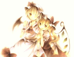 Rating: Safe Score: 72 Tags: 2girls flandre_scarlet hat polychromatic remilia_scarlet touhou vampire wings wiriam07 User: PAIIS