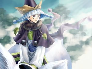 Rating: Safe Score: 6 Tags: all_male black_eyes cape clouds hat houshin_engi male shinkouhyou short_hair sky suji tattoo tree white_hair User: otaku_emmy