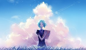 Rating: Safe Score: 20 Tags: anthropomorphism clouds houseki_no_kuni longyu phosphophyllite User: FormX