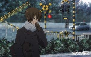 Rating: Safe Score: 20 Tags: all_male brown_eyes brown_hair car gloves koizumi_itsuki male scarf short_hair suzumiya_haruhi_no_yuutsu tagme_(artist) watermark User: RyuZU