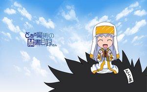 Rating: Safe Score: 24 Tags: chibi clouds food gray_hair hat index kamijou_touma long_hair nun sky to_aru_majutsu_no_index User: rargy
