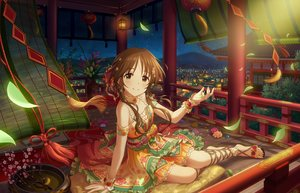 Rating: Safe Score: 28 Tags: brown_eyes brown_hair building cherry_blossoms city dress flowers idolmaster idolmaster_cinderella_girls idolmaster_cinderella_girls_starlight_stage leaves lolita_fashion long_hair night petals scenic sky stars summer tagme_(artist) takamori_aiko wristwear User: RyuZU