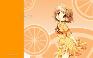 Rating: Safe Score: 19 Tags: brown_eyes brown_hair dress food fruit hidamari_sketch orange orange_(fruit) short_hair ume_aoki yuno User: rargy
