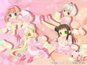Rating: Safe Score: 2 Tags: bottle_fairy chiriri hororo kururu oboro pointed_ears sarara tokumi_yuiko User: Oyashiro-sama