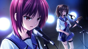 Rating: Safe Score: 20 Tags: angel_beats! game_cg guitar hisako instrument iwasawa_masami na-ga seifuku User: Tensa