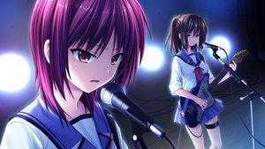 Rating: Safe Score: 20 Tags: angel_beats! game_cg guitar hisako instrument iwasawa_masami key na-ga seifuku User: Tensa