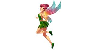 Rating: Safe Score: 21 Tags: blush breasts cleavage cosplay disney dress erylia fairy leaves mathias_leth original pink_hair pointed_ears red_eyes white wings User: gnarf1975