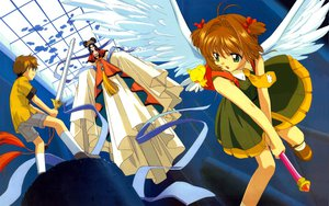 Rating: Safe Score: 17 Tags: card_captor_sakura clamp kero kinomoto_sakura li_syaoran sword weapon wings User: gnarf1975