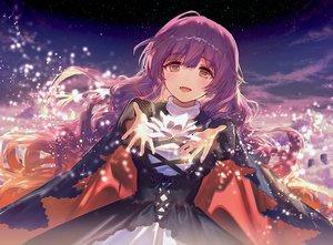 Rating: Safe Score: 55 Tags: ainy77 dress hijiri_byakuren long_hair purple_hair sky stars touhou User: BattlequeenYume