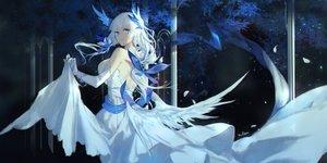 Rating: Safe Score: 3 Tags: azur_lane blue_eyes dress illustrious_(azur_lane) long_hair swd3e2 white_hair User: Nepcoheart