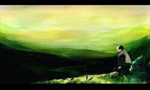 Rating: Safe Score: 53 Tags: ginko_(mushishi) grass green karibusa_tanyuu male mushishi scenic yatsude User: rodri1711