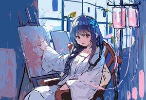 Rating: Safe Score: 57 Tags: blue_hair braids long_hair original ponytail red_eyes sketch yuuji_(yukimimi) User: otaku_emmy
