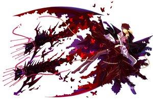 Rating: Safe Score: 38 Tags: beatrice butterfly kariya_(mizore) male umineko_no_naku_koro_ni ushiromiya_battler white wings User: HawthorneKitty