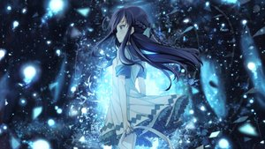 Rating: Safe Score: 123 Tags: bag black_hair blue blue_eyes bou_nin bow braids forest long_hair monochrome photoshop skirt tagme_(artist) tree uniform User: luckyluna