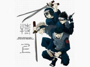 Rating: Safe Score: 12 Tags: all_male gekko_hayate male namiashi_raido naruto shiranui_genma yamashiro_aoba User: Oyashiro-sama