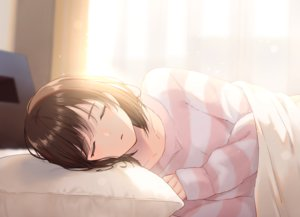 Rating: Safe Score: 48 Tags: bed brown_hair noda_shuha original pajamas short_hair sleeping User: RyuZU