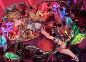 Rating: Safe Score: 32 Tags: apple flandre_scarlet food fruit tagme_(artist) touhou vampire wings User: RyuZU